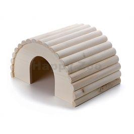 Dřevěný domek JK pro králíky 30x20x17cm