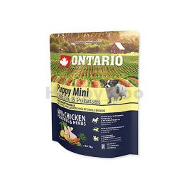 ONTARIO Puppy Mini Chicken & Herbs 0,75kg
