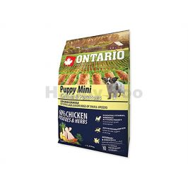 ONTARIO Puppy Mini Chicken & Herbs 2,25kg