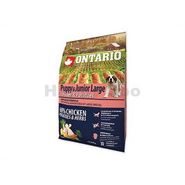 ONTARIO Puppy & Junior Large Chicken & Herbs 2,25kg