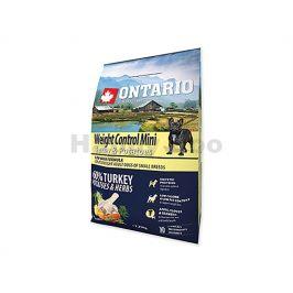 ONTARIO Adult Mini Weight Control Turkey 2,25kg