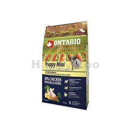 ONTARIO Puppy Mini Chicken & Herbs 6,5kg