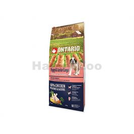ONTARIO Puppy & Junior Large Chicken & Herbs 12kg