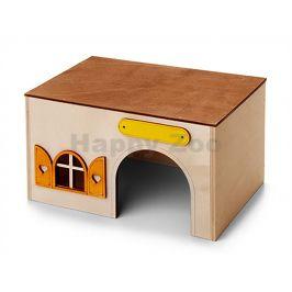 Dřevěný domek JK kvádr pro morčata 23x15x13cm