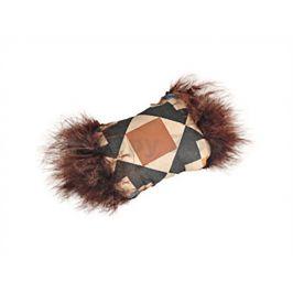 Hračka pro kočky FLAMINGO - Aztec polštářek s peřím 7cm (DOPRODE