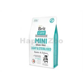 BRIT CARE Grain-Free Mini Light & Sterilised Rabbit & Salmon 2kg