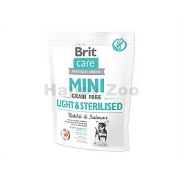BRIT CARE Grain-Free Mini Light & Sterilised Rabbit & Salmon 400
