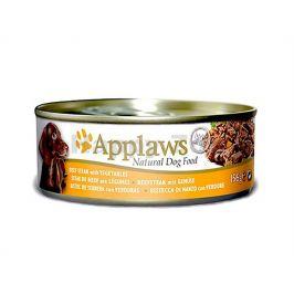 Konzerva APPLAWS Dog - hovězí steak se zeleninou 156g