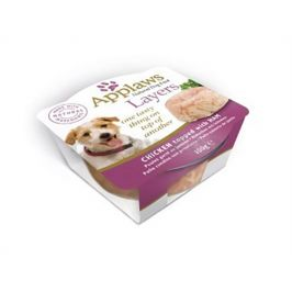 Miska APPLAWS Dog Layers - kuře se šunkou 100g