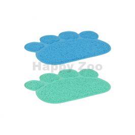 Předložka před toaletu FLAMINGO tlapka zelená/modrá 40x30cm (MIX