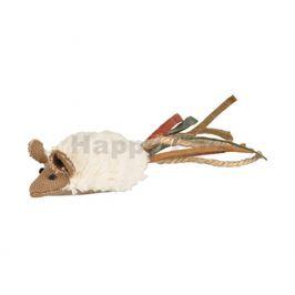 Hračka pro kočky FLAMINGO - Rila myš velká s třásněmi 51x4x3cm