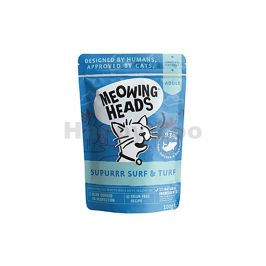 Kapsička MEOWING HEADS New Supurrr Surf & Turf 100g