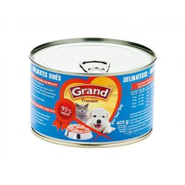 Konzerva GRAND Premium delikates směs pro štěňata a koťata 405g