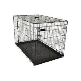 Klec pro psy FLAMINGO Ebo černá 124x83x76cm (2 dveře)