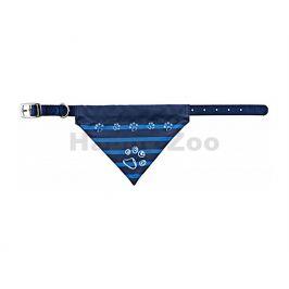 Obojek TRIXIE se šátkem modrý (M-L) 2,5x43-55cm