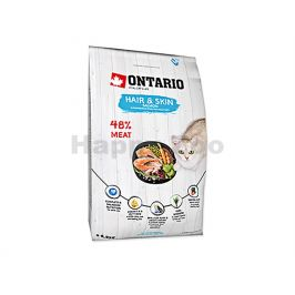 ONTARIO Cat Fresh Meat Hair & Skin Salmon 6,5kg