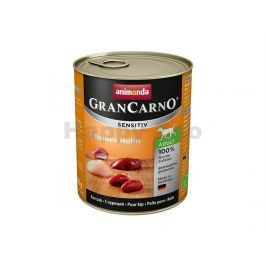 Konzerva GRAN CARNO Sensitiv čisté kuřecí 800g