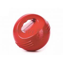 Hračka JK guma TPR - míč červený s uchem plovoucí 14cm