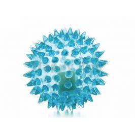 Hračka JK guma TPR - LED míček s bodlinami modrý 5,5cm