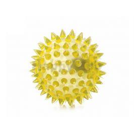 Hračka JK guma TPR - LED míček s bodlinami růžový 5,5cm