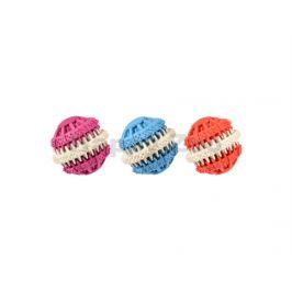 Hračka FLAMINGO guma - kombinovaný dentální míč 6cm (MIX BAREV)