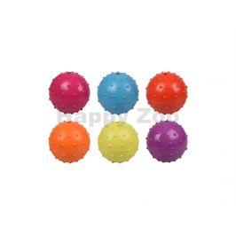 Hračka FLAMINGO guma - míč s rolničkou 7cm (MIX BAREV)