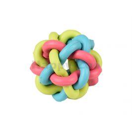Hračka FLAMINGO guma - spletený míč 8cm