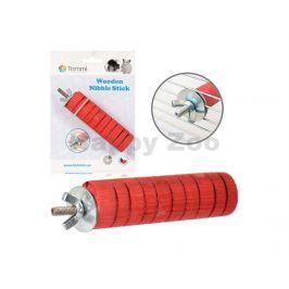 Hračka pro hlodavce TOMMI - dřevěné okusovátko červené (M) 10cm