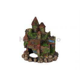 Akvarijní dekorace FLAMINGO - Moza hrad 16x12x17cm