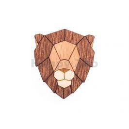 BEWOODEN Lion Brooch