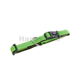Obojek NOBBY Soft Grip nylonový zelený 2,5x40-55cm