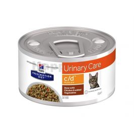 Konzerva HILLS Feline Stew C/D Multicare with Chicken & Vegetabl