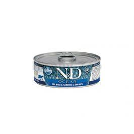 Konzerva N&D Cat Ocean Adult Sea Bass & Sardine & Shrimps 80g