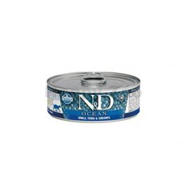 Konzerva N&D Cat Ocean Adult Small Tuna & Shrimps 80g