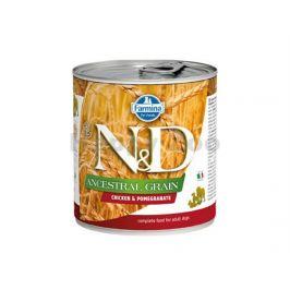 Konzerva N&D Dog Ancestral Grain Adult Chicken & Pomegranate 285