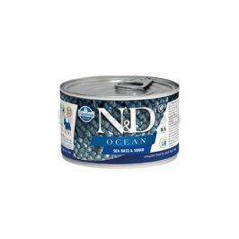 Konzerva N&D Dog Ocean Adult Sea Bass & Squid Mini 140g