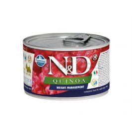 Konzerva N&D Dog Quinoa Weight Mnmgmt Lamb & Brocolli Mini 140g