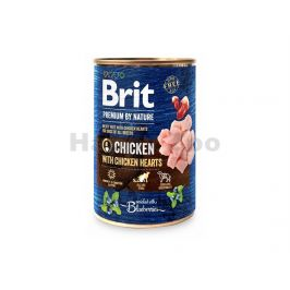 Konzerva BRIT Premium by Nature Chicken & Hearts 400g