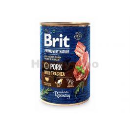 Konzerva BRIT Premium by Nature Pork & Trachea 400g