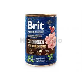 Konzerva BRIT Premium by Nature Chicken & Hearts 800g