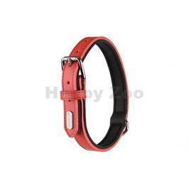 Obojek FLAMINGO Rinti kožený červený 2x31-39cm