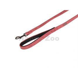 Vodítko FLAMINGO Delu z umělé kůže červené 2x100cm