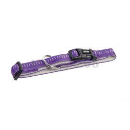 Obojek NOBBY Soft Grip nylonový fialový 2,5x40-55cm