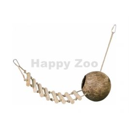 Kokosový domek NOBBY závěsný s žebříkem 65cm
