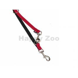 Vodítko NOBBY Soft Grip nylonové červené 2,5x200cm
