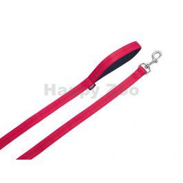 Vodítko NOBBY Soft Grip nylonové červené 1x120cm