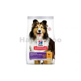 HILLS Canine Adult Sensitive Stomach & Skin Medium Chicken 14kg