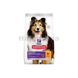 HILLS Canine Adult Sensitive Stomach & Skin Medium Chicken 2,5kg
