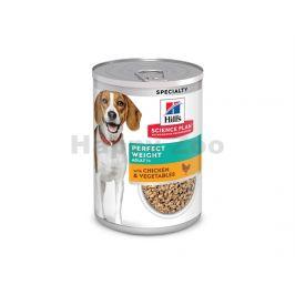 Konzerva HILLS Canine Perfect Weight Chicken & Vegetables 370g