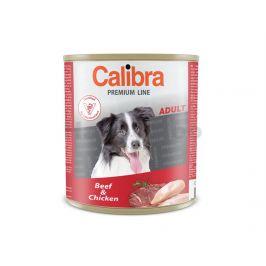 Konzerva CALIBRA Dog Premium Beef and Chicken 800g